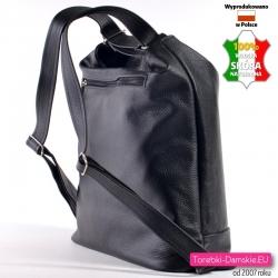 Plecak damski czarny skórkowy