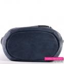 Granatowa torba z płaskim usztywnionym spodem