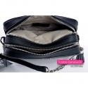 Dwukomorowa torebka w kolorze czarnym - mini kuferek