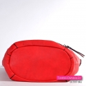 Pojemna funkcjonalna pakowna czerwona torba