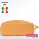 Duża żółta torba damska ze skóry naturalnej