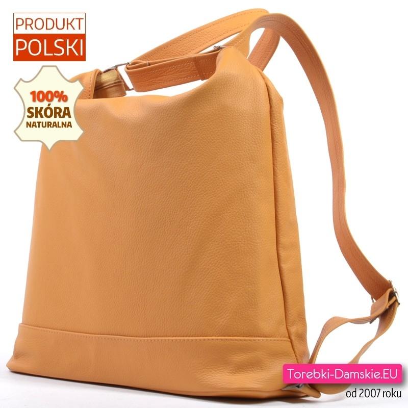 d15b5878ebb46 ... Żółty skórzany plecak damski A4  Plecak damski ze skóry naturalnej  żółty  Torba ...