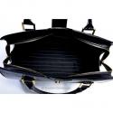 Duży funkcjonalny kuferek w kolorze czarnym - MIEŚCI A4 - włoski oryginał