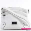 Biała torebka damska listonoszka z kieszonkami