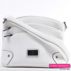 7d8f6635e94eb Biała torebka damska listonoszka z kieszonkami