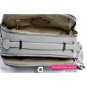 Dwukomorowa torebka w kolorze szarym - mini kuferek