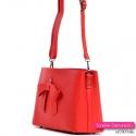 W komplecie z tą efektowną czerwoną torebka pasek długi dopinany