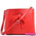 Czerwony kuferek z kokardą - na ramię i do przewieszenia