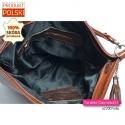 Elegancka torba ze skóry brązowej naturalnej