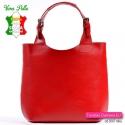 Piękna czerwona torba włoska ze skóry