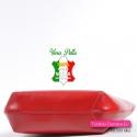 Włoska torebka z cielęcej czerwonej skóry naturalnej