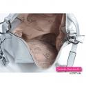 Zamykana szczelnie suwakiem torebko - plecak srebrny