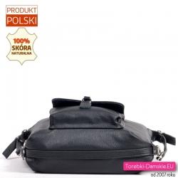 Miejska czarna torba skórzana polska