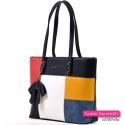 5 - kolorowa torba miejska A4 na ramię z kokardą