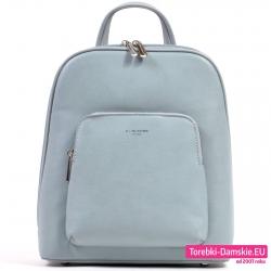 Pojemny błękitny plecak damski David Jones