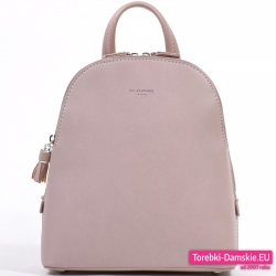 Plecak damski w kolorze pudrowy róż - dwukomorowy