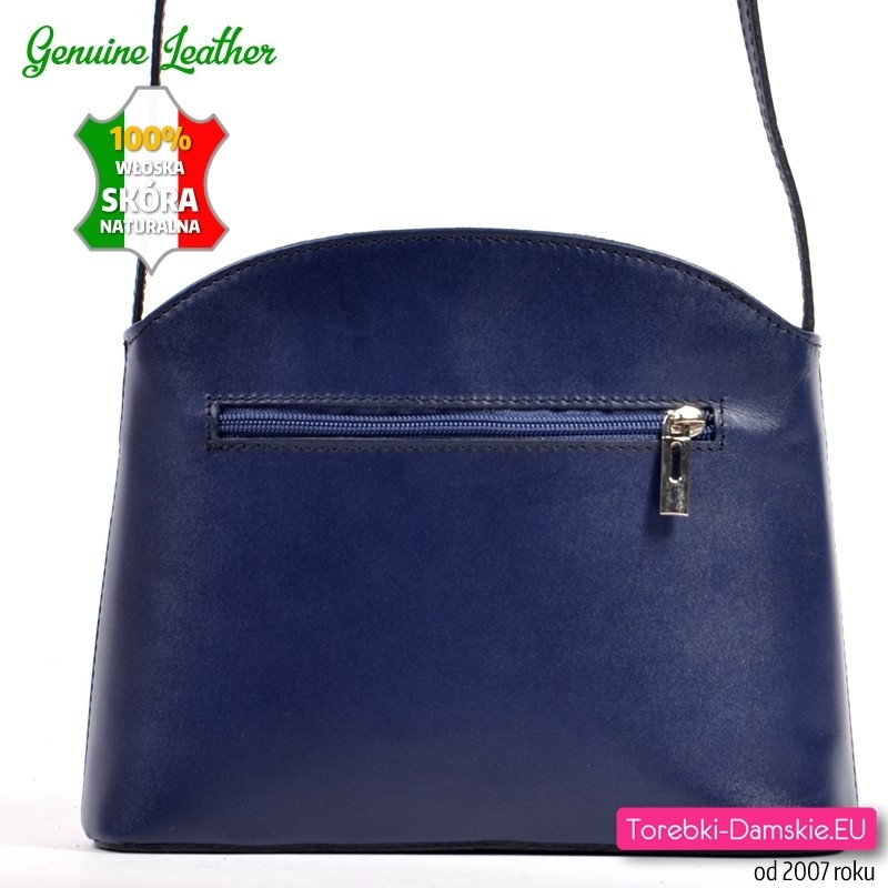 084397410c82e Granatowa włoska torebka skórzana mała listonoszka