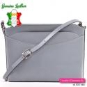 Włoska szara torebka damska do przewieszenia