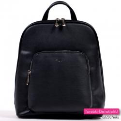 Czarny plecak damski marki David Jones