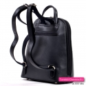 Miejski elegancki czarny plecak damski