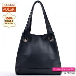 Czarna pojemna torba skórzana na ramię