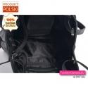 Pakowna pojemna czarna miejska damska torba skórzana