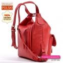 Plecak damski czerwony w ładnym odcineniu skórzany