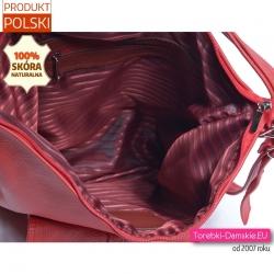 Funkcjonalna czerwona torba i plecak damski w jednym
