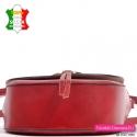Czerwona torebka damska ze skóry licowanej gładkiej