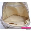 Plecak damski w kolorze beżowym zamykany suwakiem z klapą