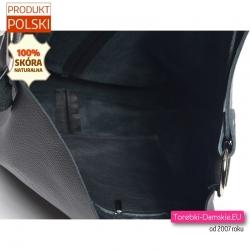 Polska duża torba na ramię i do przewieszenia zamykana zatrzaskiem magnetycznym