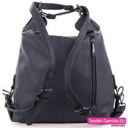 Damski plecak w kolorze granatowym