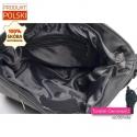 Mieszcząca format A4 pojemna torba ze skóry - grafitowy odcień koloru szarego