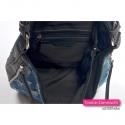 Torebka jeansowa mieszcząca A4 z 3 kieszeniami wewnątrz