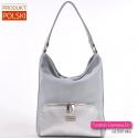 Szaro - srebrna lekka torebka średniej wielkości