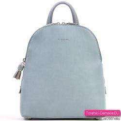 Błękitny plecak damski