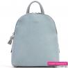 Błękitny plecak damski w modnym pastelowym odcieniu