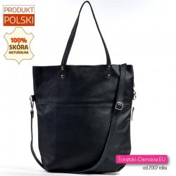 Skórzana duża torba shopper produkcji polskiej