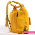 Miejski plecak damski w kolorze żółtym