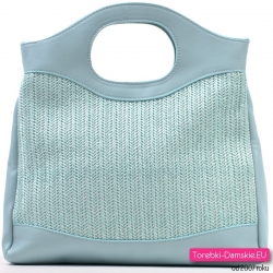 Błękitna lekka torebka na lato