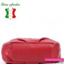 Miejska czerwona włoska torba skórzana