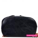 Pakowny plecak damski czarny z brązem