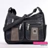 Czarno - szara torebka z kieszonkami na suwaki