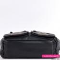 Praktyczna miejska torebka z płaskim spodem - kolor czarny