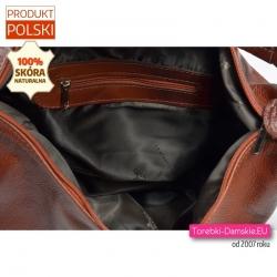 Mieszcząca A4 duża skórzana polska torba zamykana zamkiem błyskawicznym