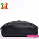 Zgrabna i pakowna włoska czarna torebka ze skóry