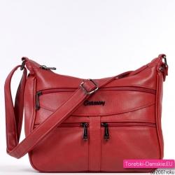 Czerwona torebka ciemny odcień listonoszka