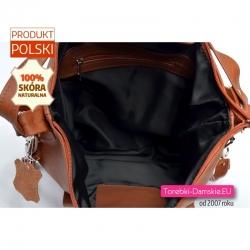 Zamykana suwakiem plecako - torba damska
