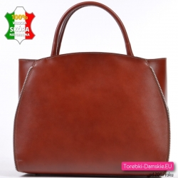 Teczka / kuferek A4 ze skóry naturalnej w kolorze brązowym