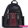 Czarno - bordowy plecak damski
